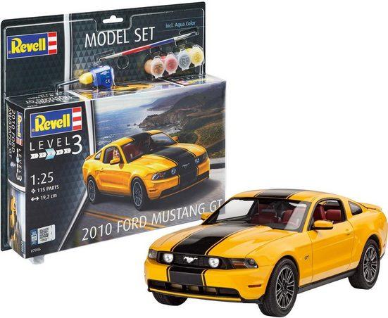 Revell® Modellbausatz »Model Set 2010 Ford Mustang GT«, Maßstab 1:25, (Set)