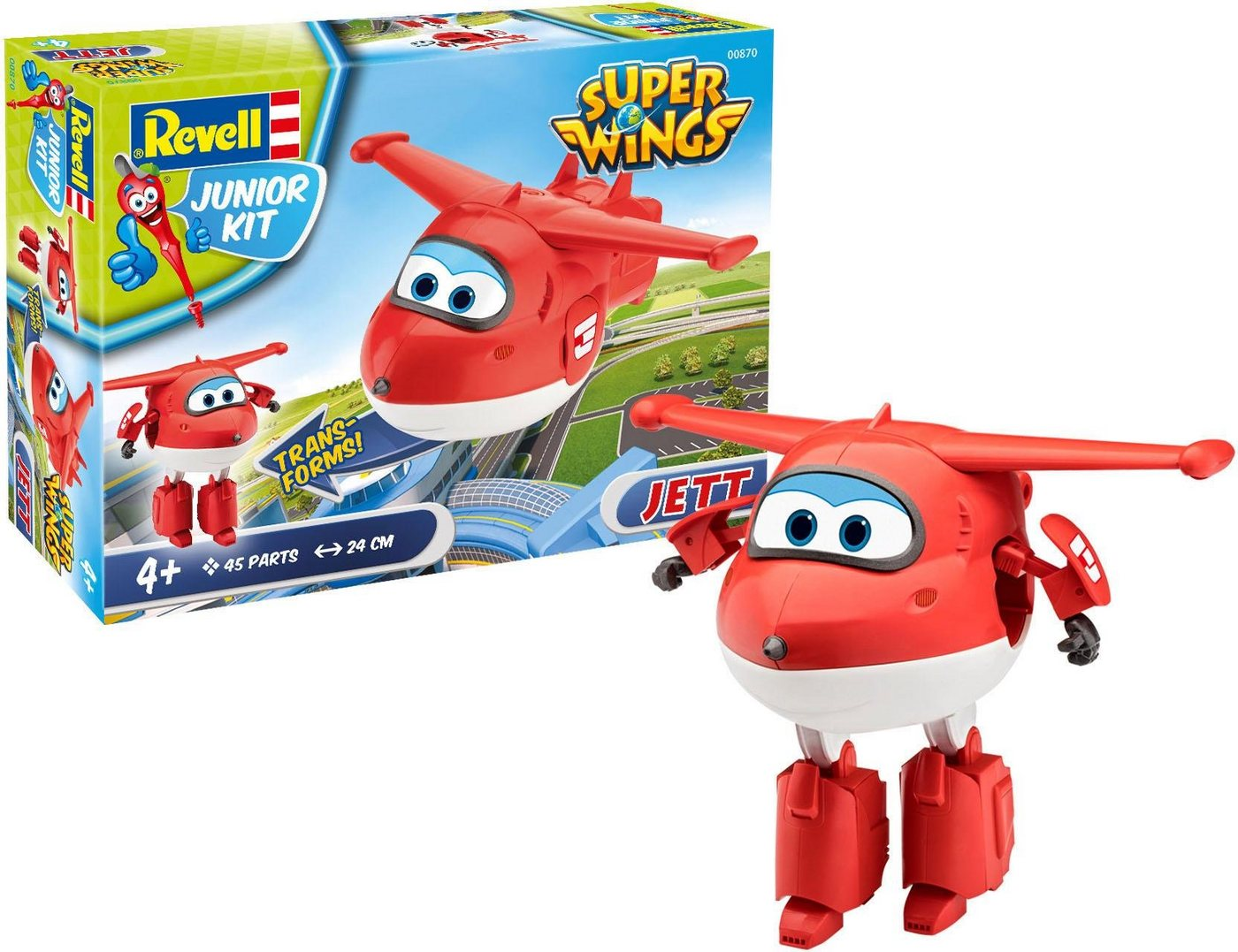 Revell Modellbausatz transformierbares Flugzeug, »Junior Kit Super Wings Jett«