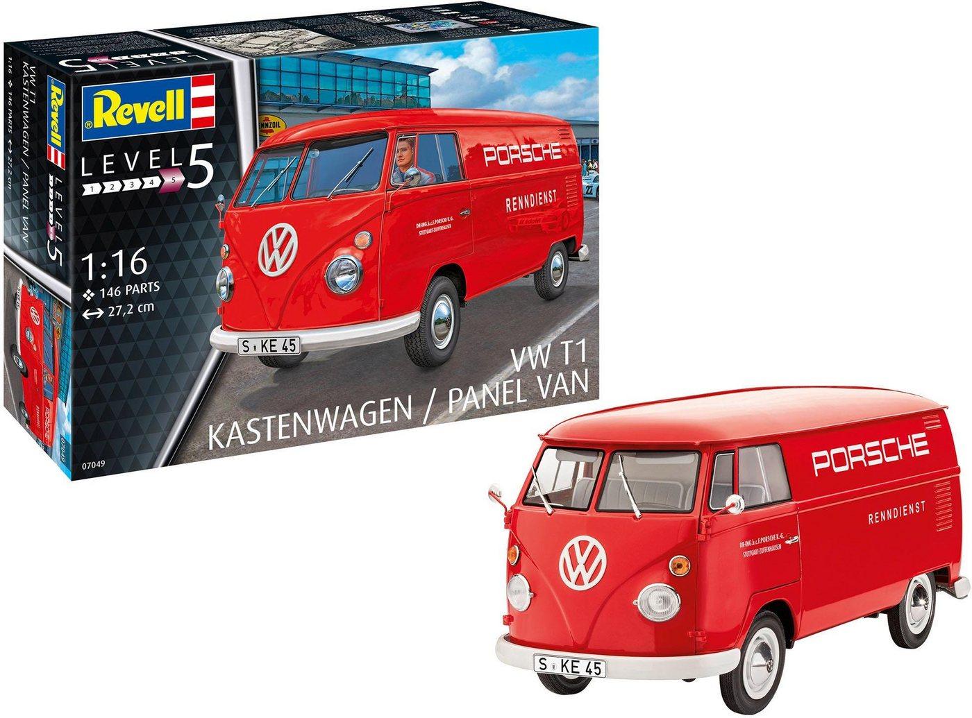 Revell Modellbausatz Auto, Maßstab 1:16, »VW T1 Kastenwagen, rot«