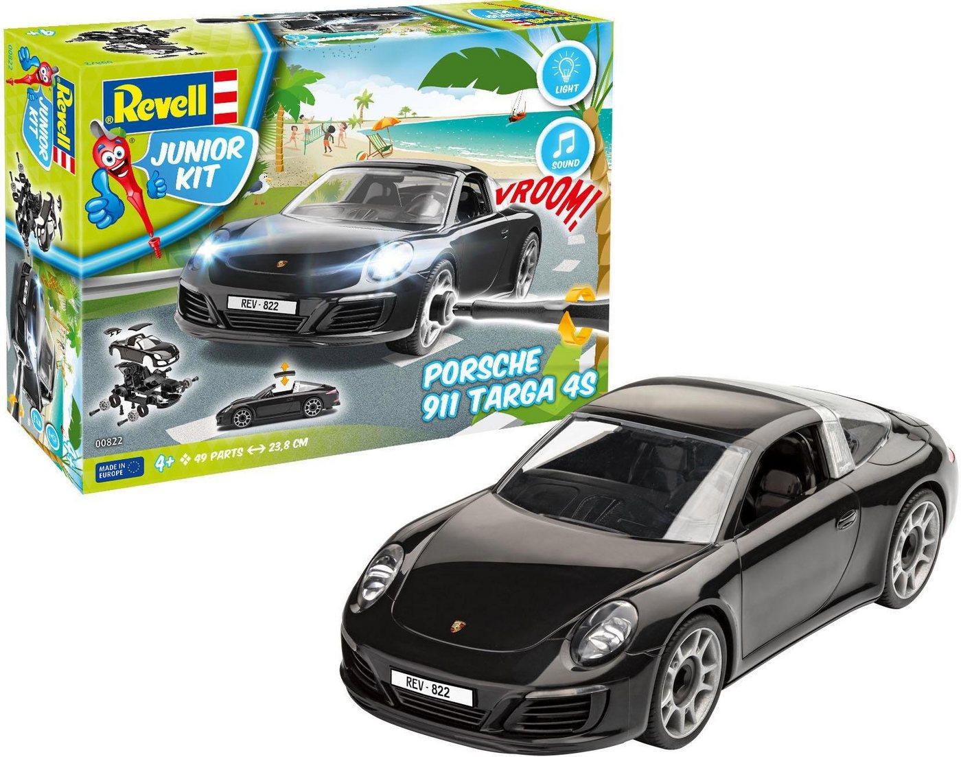 Revell Modellbausatz Auto mit Licht und Sound, »Junior Kit Porsche 911 Targa 4S«