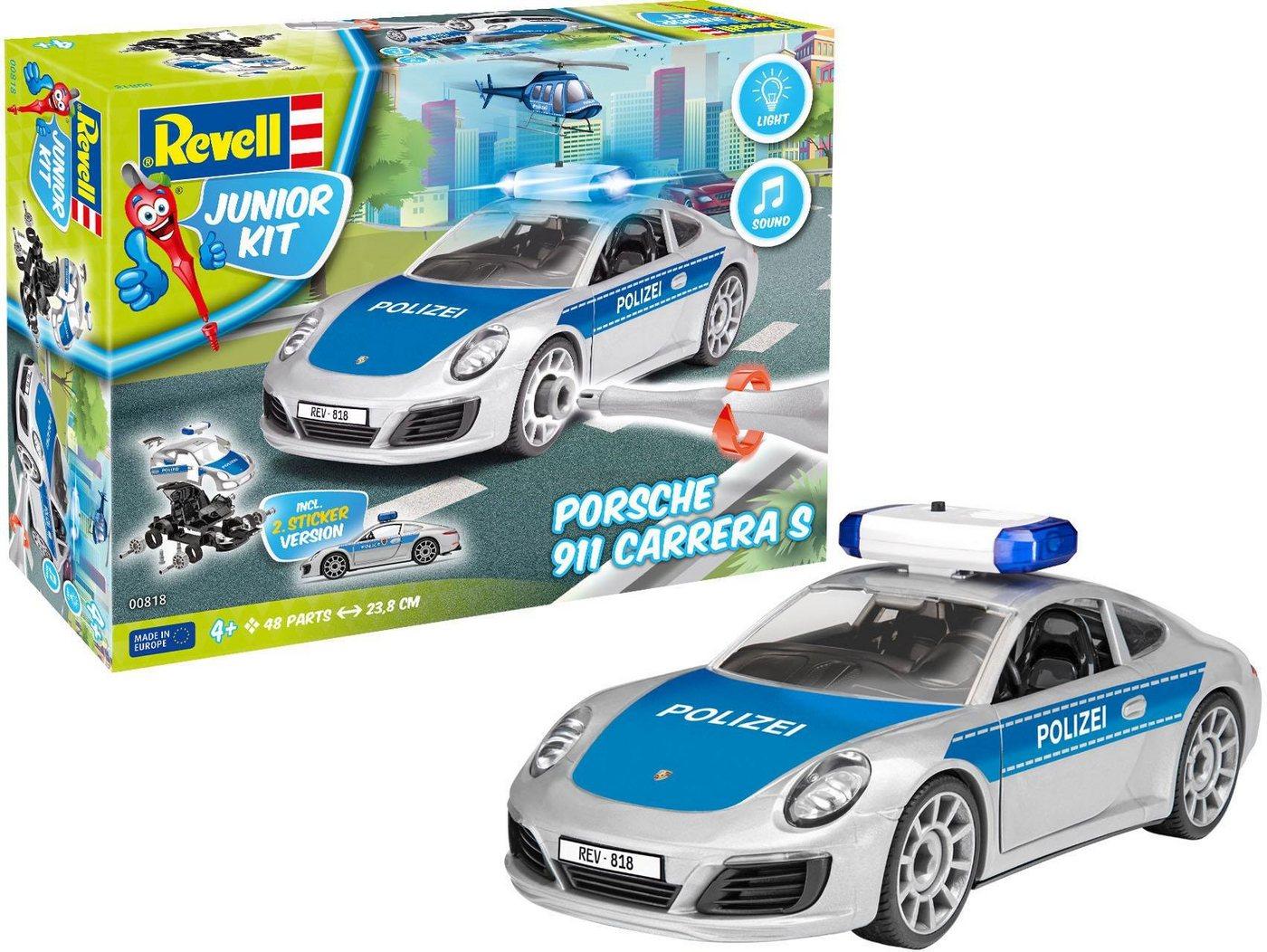 Revell Modellbausatz Auto mit Licht und Sound, »Junior Kit Porsche 911 Polizei«