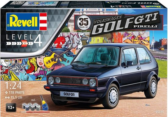Revell® Modellbausatz »Model Set 35 Jahre VW Golf GTI Pirelli«, Maßstab 1:24, (Set), Made in Europe