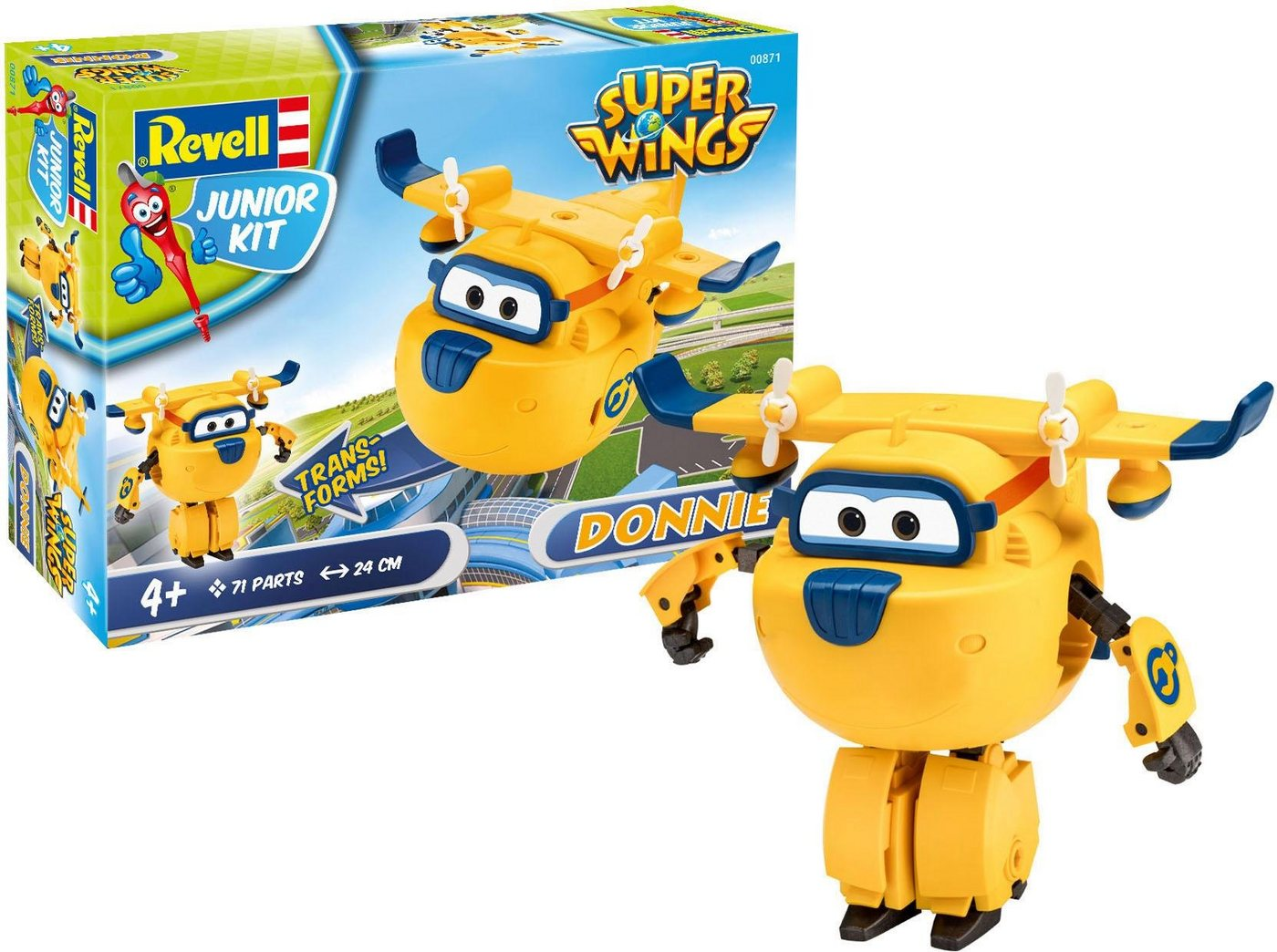 Revell Modellbausatz transformierbares Flugzeug, »Junior Kit Super Wings Donnie«