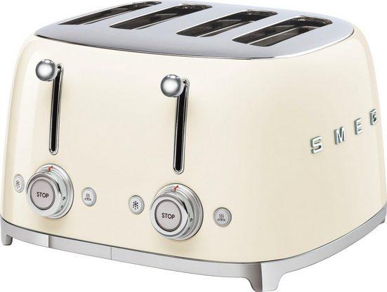 Smeg Toaster TSF03CREU, 4 kurze Schlitze, 3000 W