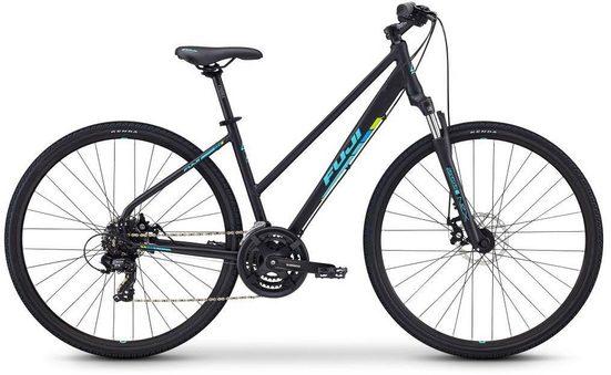FUJI Bikes Fitnessbike »TRAVERSE 1.7 DISC ST«, 21 Gang Shimano Tourney Schaltwerk, Kettenschaltung
