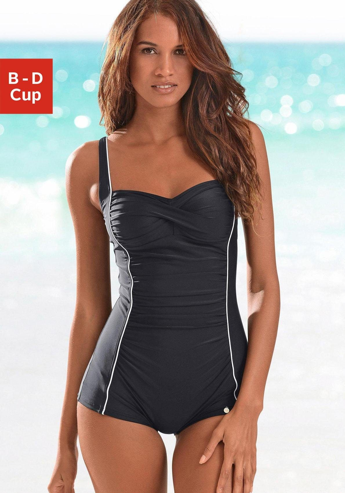 LASCANA Badeanzug, mit Bein online kaufen   OTTO