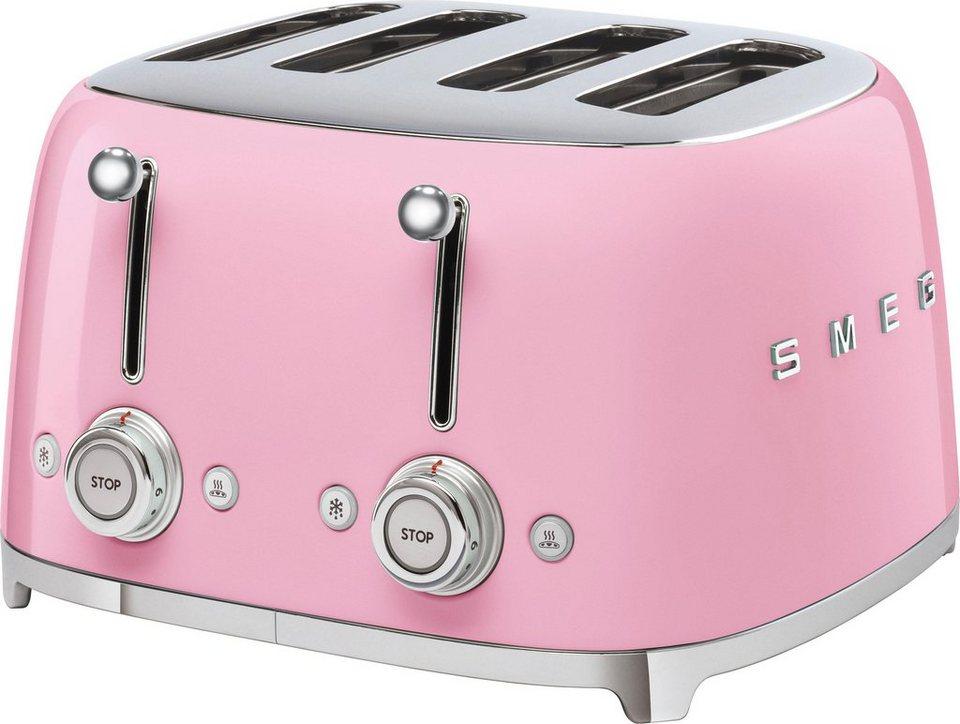 Smeg Kühlschrank Sale : Smeg toaster tsf03pkeu 4 kurze schlitze 3000 w otto