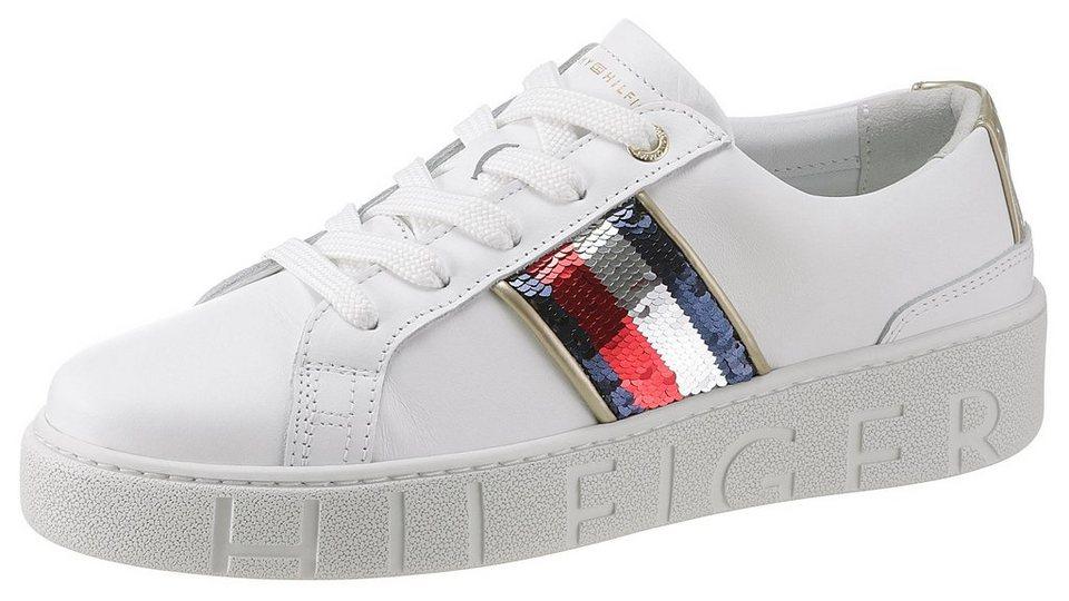 32545d860240fe TOMMY HILFIGER »SANDIE« Sneaker mit weich abgepolstertem Schaftrand ...