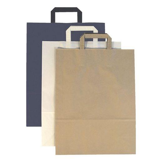 Papier-Tragetaschen 8 L - blau »Topcraft«
