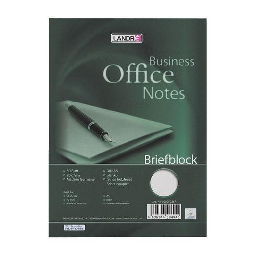 LANDRE Briefblock A5 blanko 100050267 »Work«