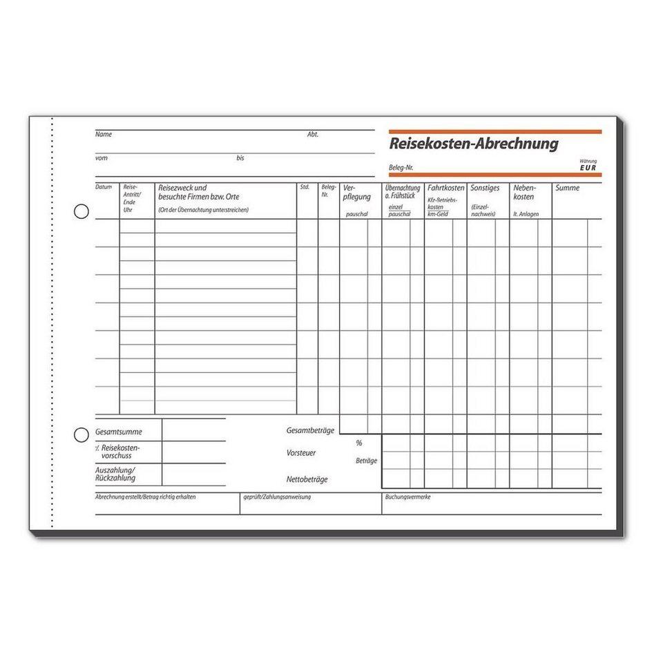 Sigel Formularbuch »Reisekostenabrechnung«