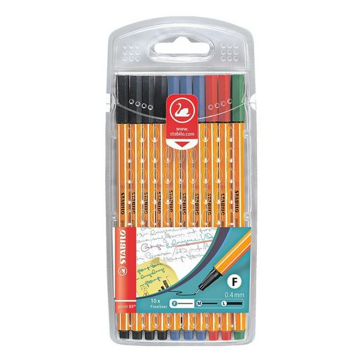 STABILO 10er-Pack Fineliner »Point 88 - Office«