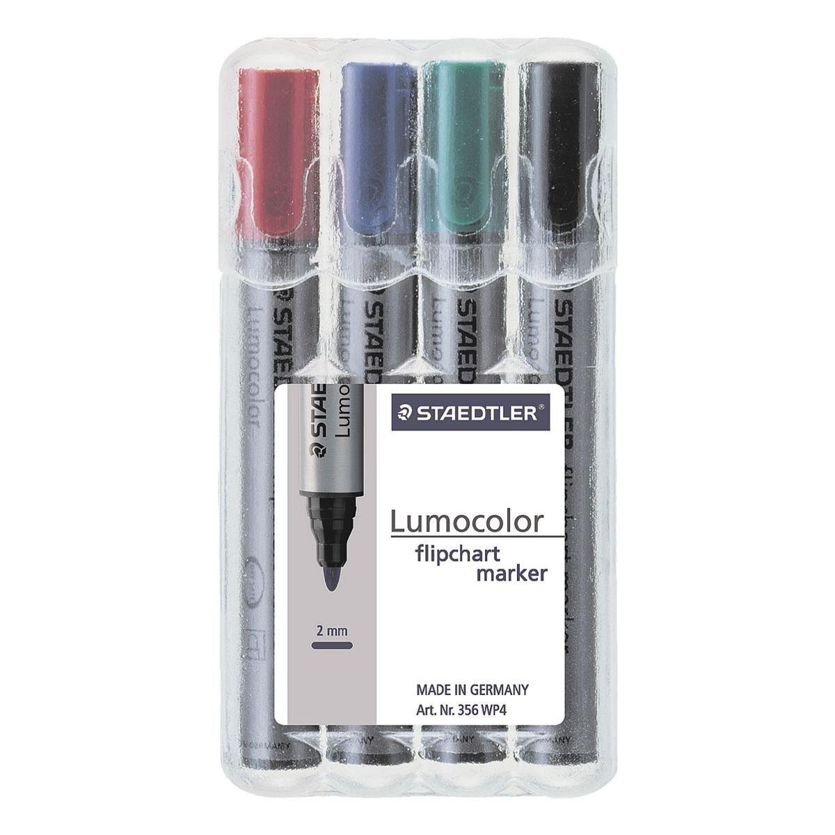 Staedtler 4er-Pack Flipchart Marker »Lumocolor 356«