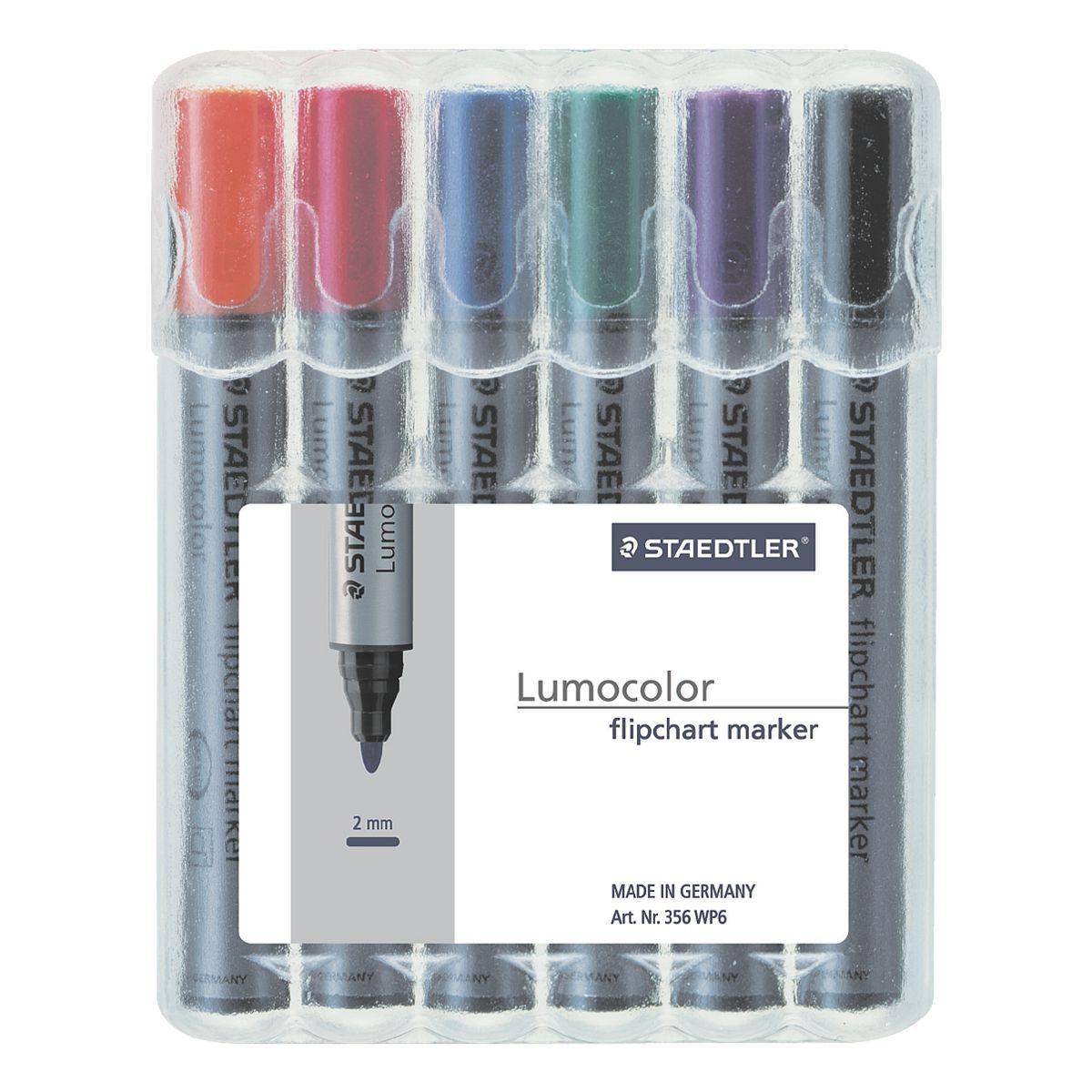 Staedtler 6er-Pack Flipchart Marker »Lumocolor 356«
