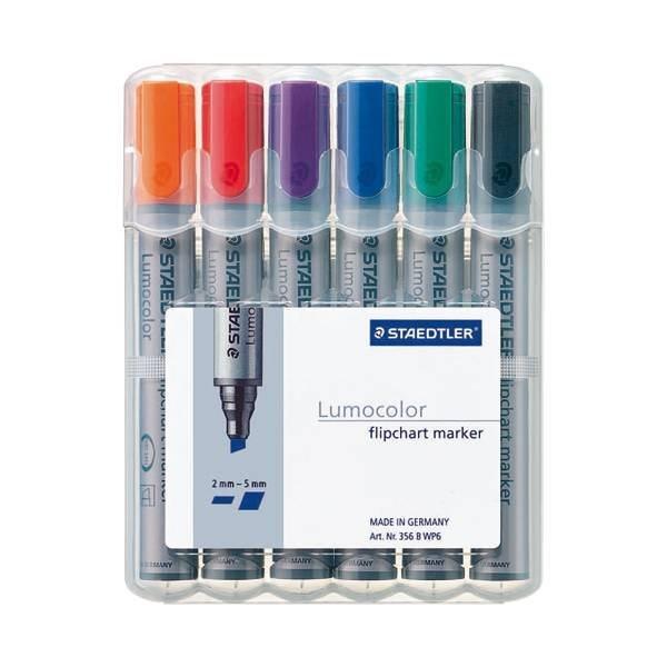 Staedtler 6er-Pack Flipchart Marker »Lumocolor 356 B«