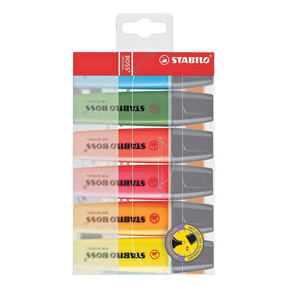 Stabilo 6er-Pack Textmarker »BOSS® Original«