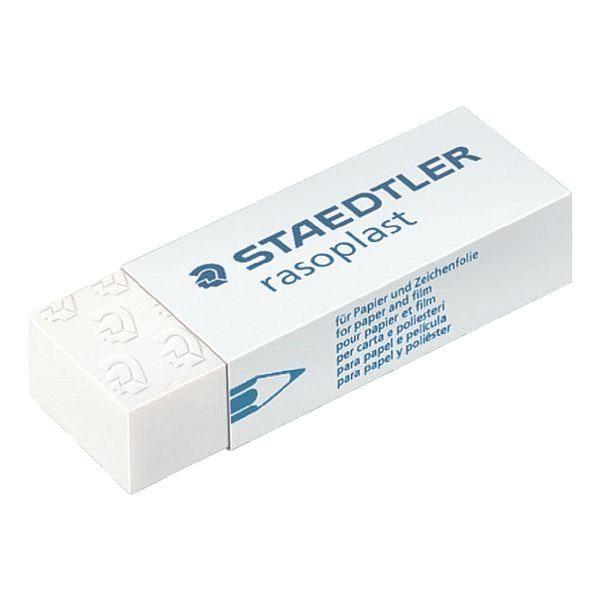 Staedtler Kunststoff Radierer rasoplast schwarz 33 x 16 x 13 weiss 43 x 19 x 8 m