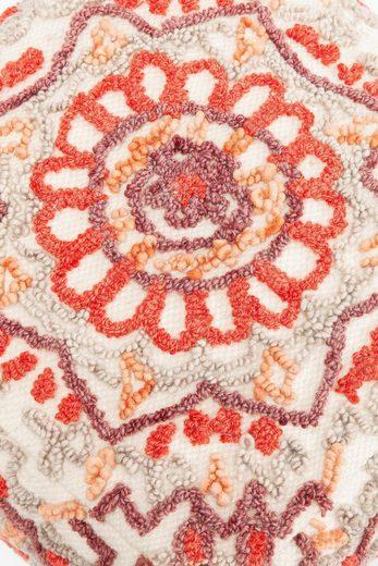 KARE Sitzwürfel »Arabian Flower Reddish«  handgefertigt (getuftet)