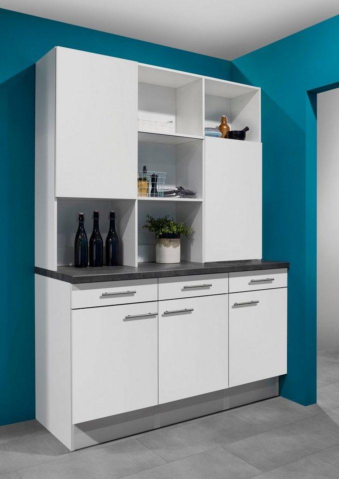 optifit aufsatzregal mini mit schiebet ren breite 150. Black Bedroom Furniture Sets. Home Design Ideas