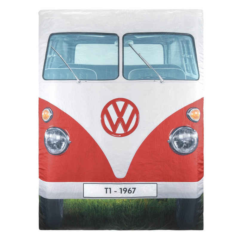 VW Collection by BRISA Doppelschlafsack »Rote VW Bulli Fron & Blaue VW Bulli Rückseite«