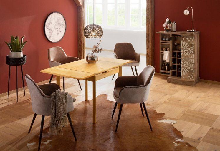 Home affaire Esstisch »Tirza«, aus massiver Kiefer, mit Auszugsfunktion in zwei Breiten
