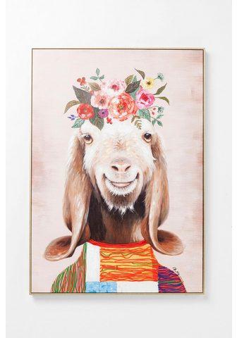 KARE Paveikslas ant drobės »Flowers Goat«