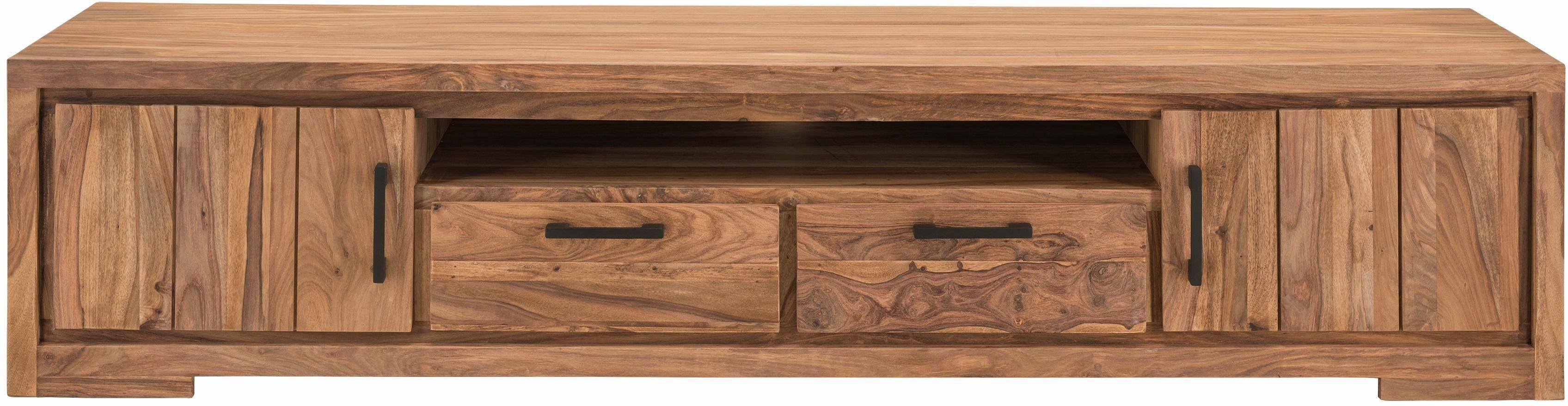 SIT Lowboard »Sanam« aus Sheesham Holz mit schöner Struktur, Breite 205 cm