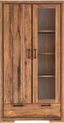 SIT Vitrine »Sanam« aus Sheesham Holz mit ausdrucksstarker Maserung