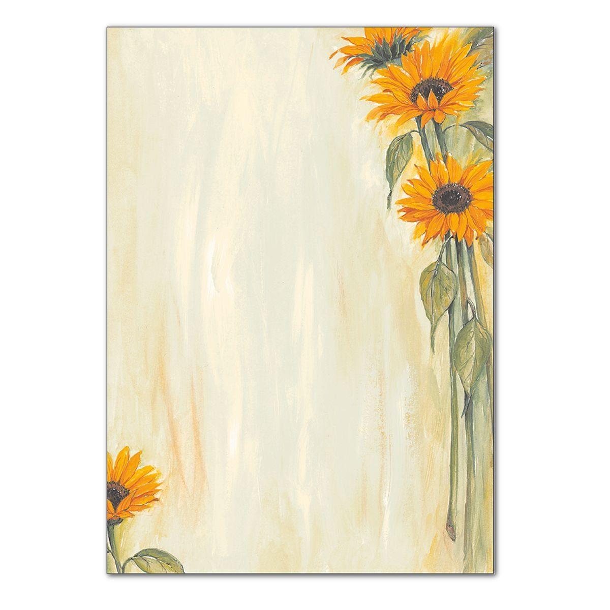 Sigel Motivpapier »Sonnenblumen«