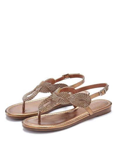 0bb35124f281c8 LASCANA Zehentrenner-Sandale im Metallic-Look