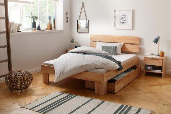 Home affaire Massivholzbett »Lars«, mit Holzkopfteil, in 4 verschiedenen Größen