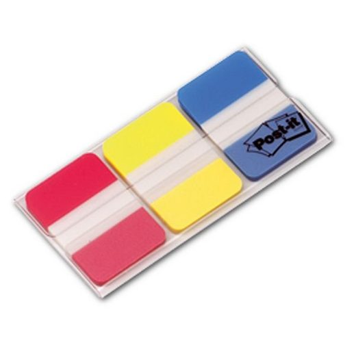 Post-it Index Haftstreifen 38 x 25,4 mm, rot/gelb/blau »Index Strong«