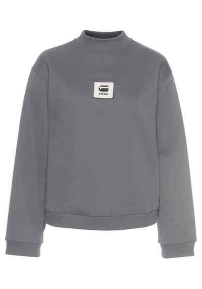 G Star RAW Sweatshirt »Bilbi box logo hdd sw wmn ls« mit Logo Badge auf der Brust