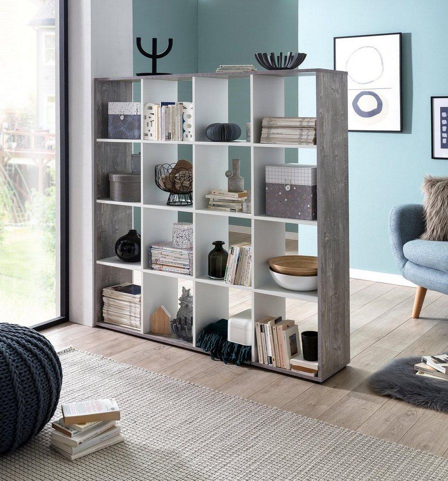 regal raumteiler kaba mit 16 f chern kaufen otto. Black Bedroom Furniture Sets. Home Design Ideas