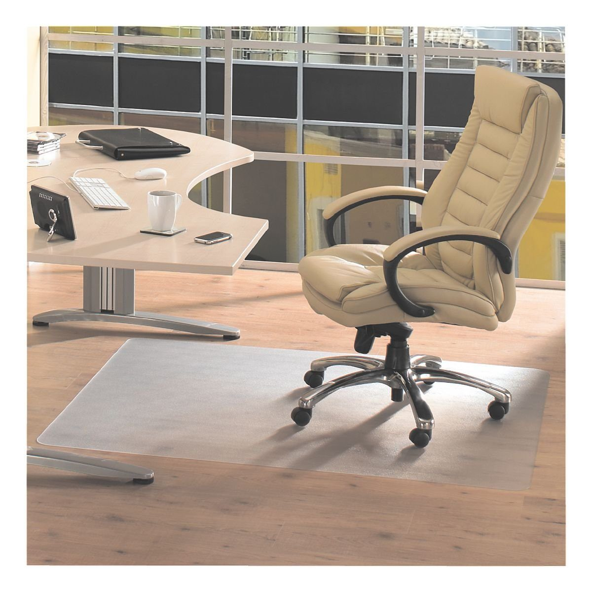 Floortex Bodenschutzmatte 120x200 cm rechteckig für Hartboden
