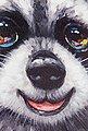 KARE Leinwandbild »Flowers Raccoon«, teilweise handgemalt, Bild 4