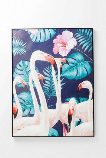 KARE Leinwandbild »Flamingo Road«, teilweise handgemalt