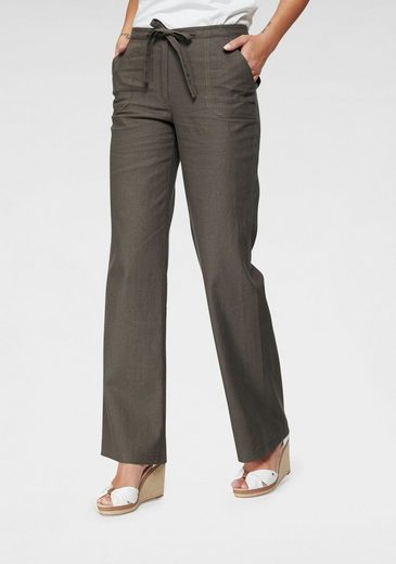 Aniston CASUAL Leinenhose mit Bindeband