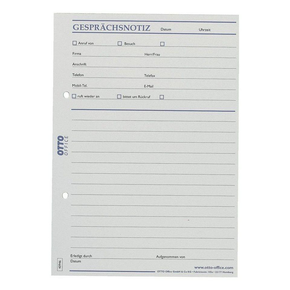 OTTO Office Standard Formularvordrucke »Gesprächsnotiz«, 1-fach