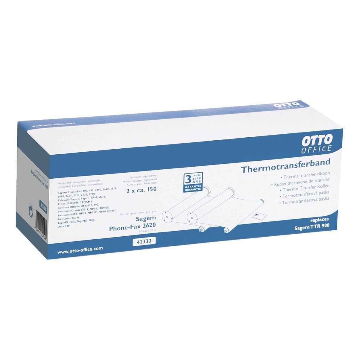 OTTO Office Standard Doppelpack Transferfolien ersetzt Sagem »TTR 900« (...