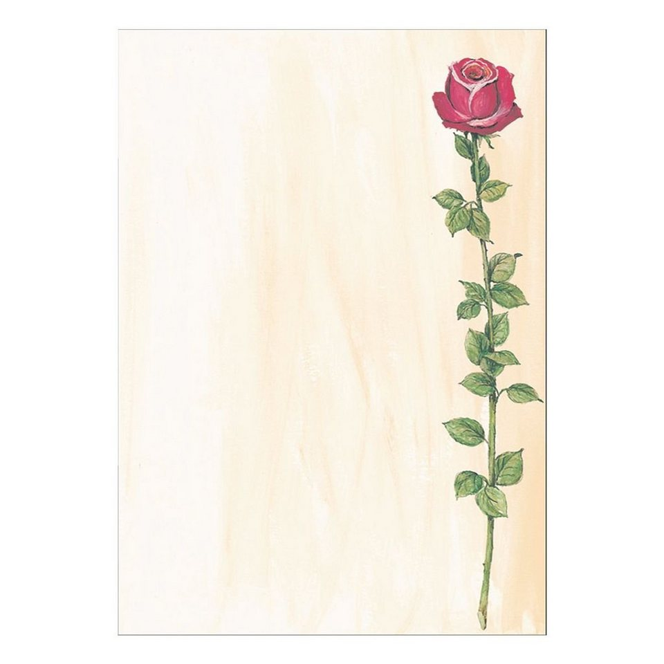 Sigel Motivpapier »Rose«