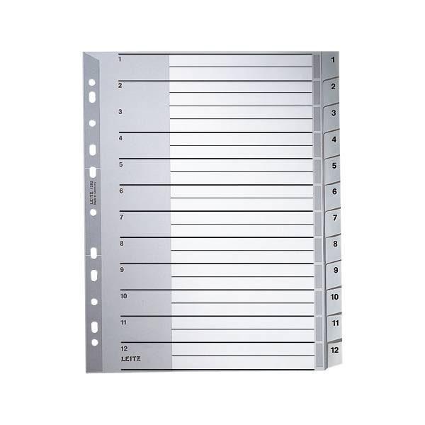 LEITZ Kunststoffregister 1-12 A4 Maxi »1282«