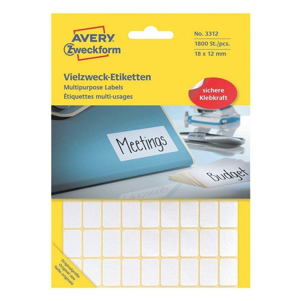 Avery Zweckform 1800er-Pack Vielzweck-Etiketten »3312«