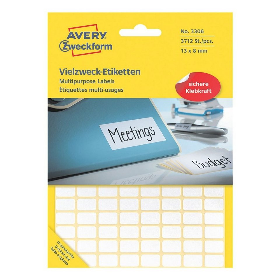 Avery Zweckform 3712er-Pack Vielzweck-Etiketten »3306«