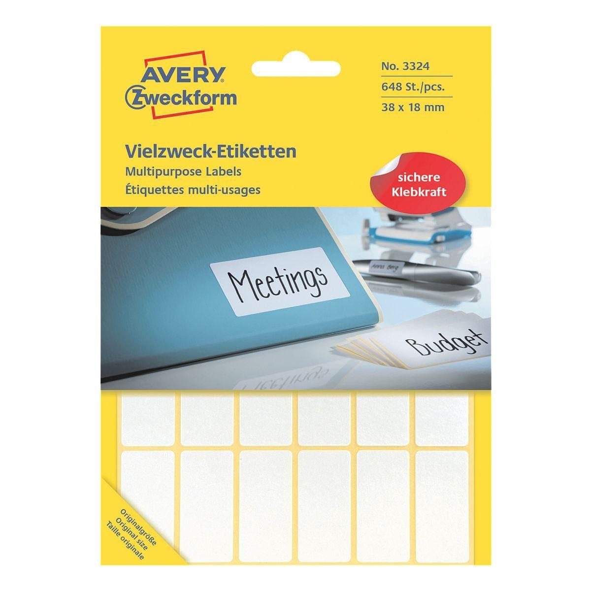 Avery Zweckform 648er-Pack Vielzweck-Etiketten »3324«