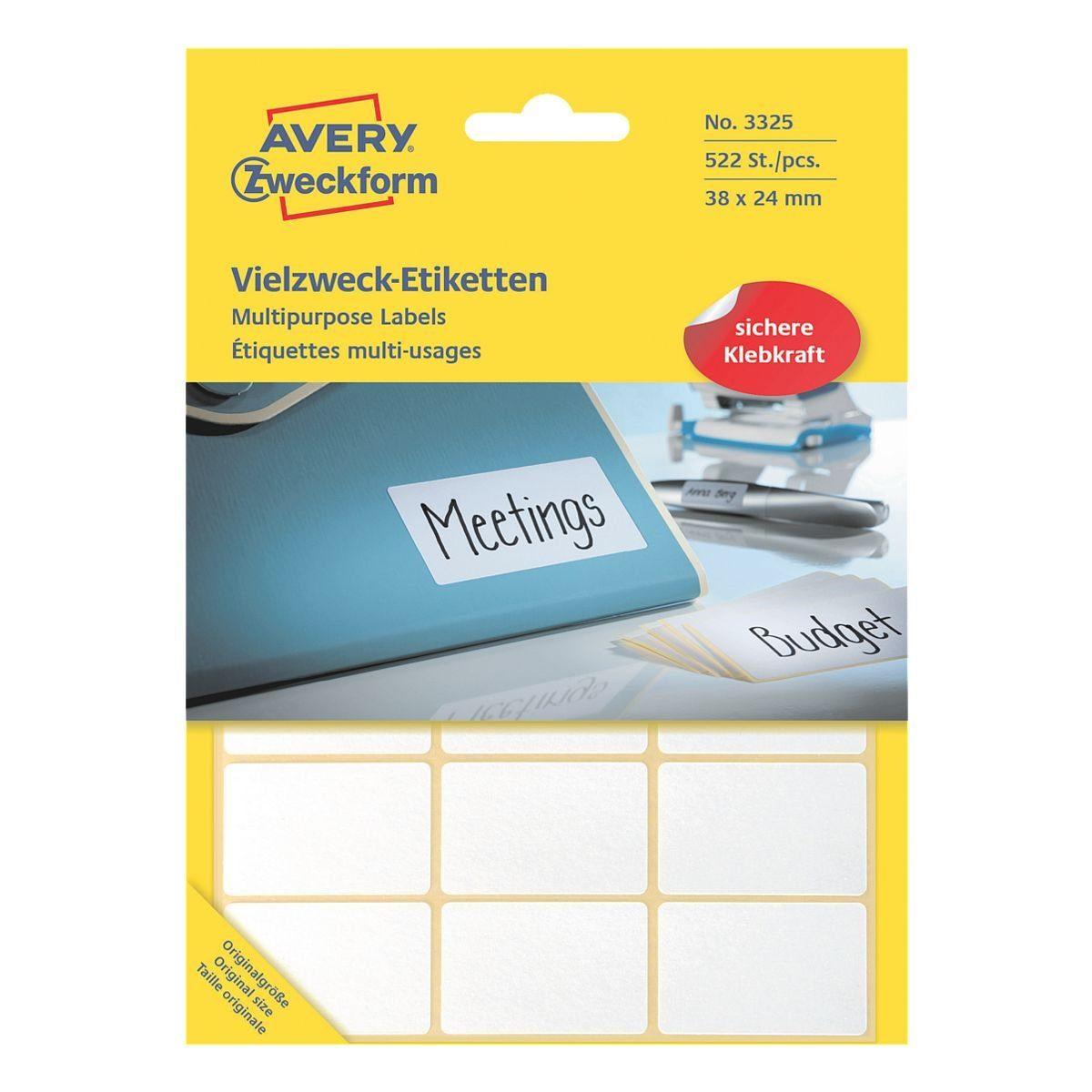 Avery Zweckform 522er-Pack Vielzweck-Etiketten »3325«