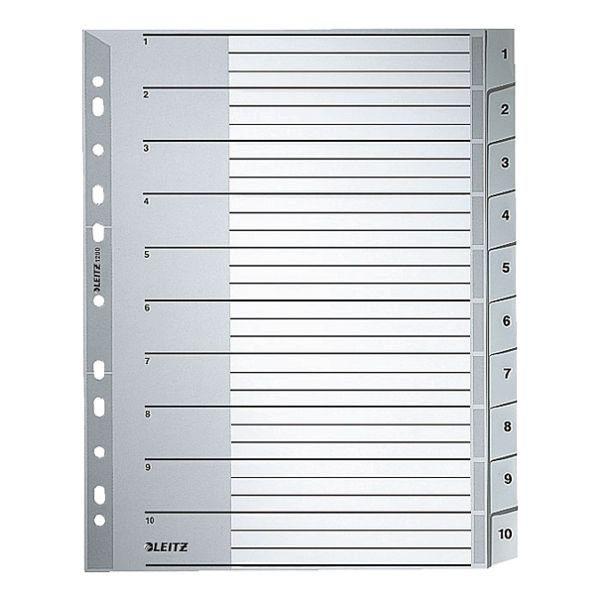 Leitz Kunststoffregister 1-10 A4 Maxi »1280«