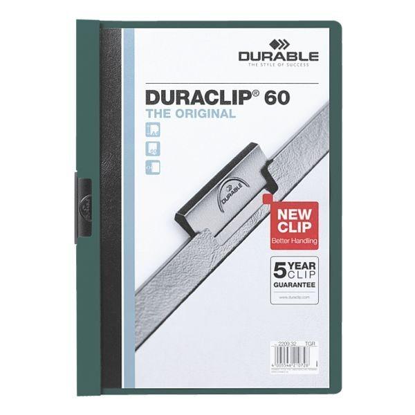Durable Klemmhefter »Duraclip 60« in dunkelgrün