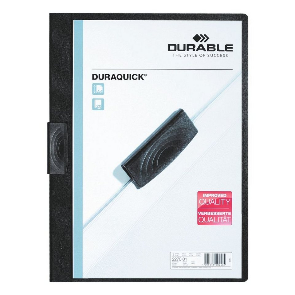 Durable Klemmhefter »Duraquick« in schwarz