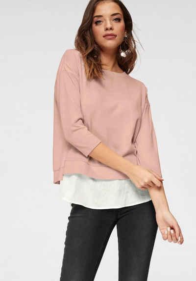 2 In 1 Pullover Fur Damen Pullover Mit Bluseneinsatz Kaufen Otto